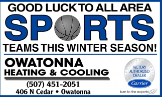 Good Luck to all area sports teams this winter season!