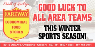Good Luck to all area teams