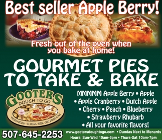 Gourmet Pies to take & bake