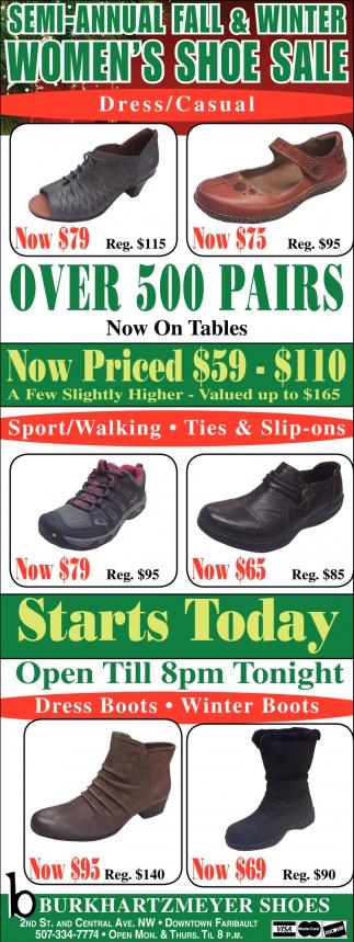 Semi-Annual Fall & Winter Women's Shoe Sale
