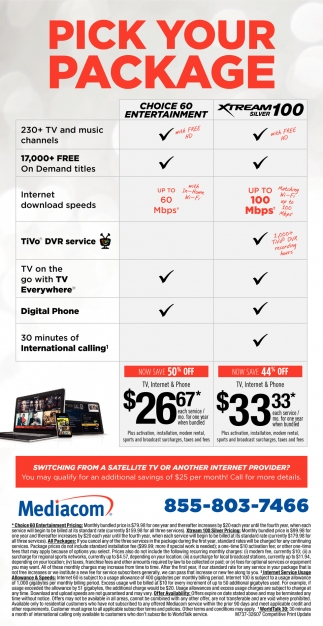 Pick Your Package, Mediacom Cable, Des Moines, IA