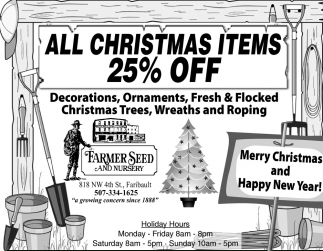 All Christmas Items 25% off