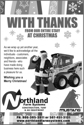 Wishing you a Merry Christmas!, Northland Farm Systems, Owatonna, MN