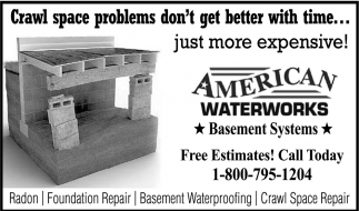 Basement Systems, American Waterworks, Waseca, MN