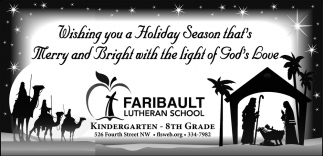 Holiday Season, Faribault Lutheran School, Faribault, MN