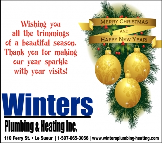 merry christmas and happy new year winters plumbing heating inc