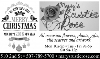Merry Christmas, Mary's Rustic Rose, Kenyon, MN