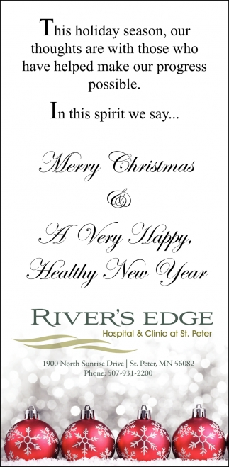 Merry Christmas & A Very Happy Healthy New Year