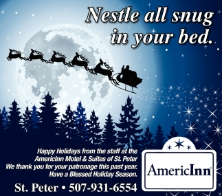 Holiday Greetings Americinn Hotel Suites St Peter St Peter Mn
