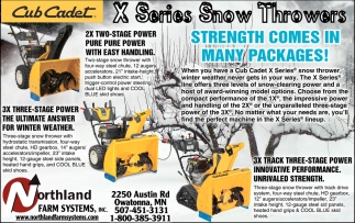 Cub Cadet X Series Throwers, Northland Farm Systems, Owatonna, MN