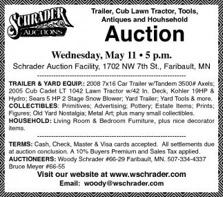 Trailer, Cub Lawn Tractor, Tools