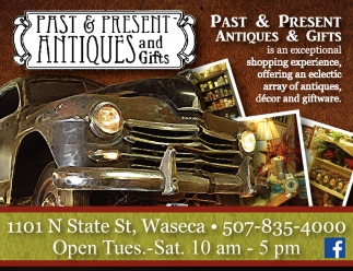 Eclectic array of antiques, decor and giftware, Past & Present Antiques and Gifts, Waseca, MN