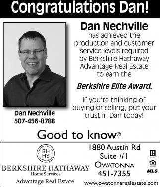 Dan Nechville Berkshire Elite Award