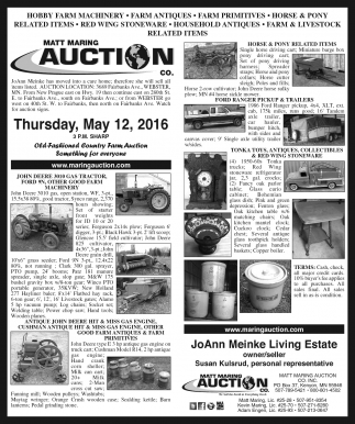 AUCTION CALENDAR
