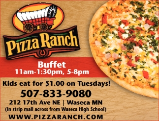 Buffet 11am - 1:30pm, 5-8 pm