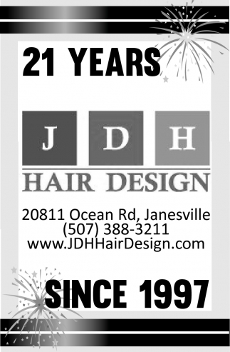 21 years since 1997, JDH Hair Design