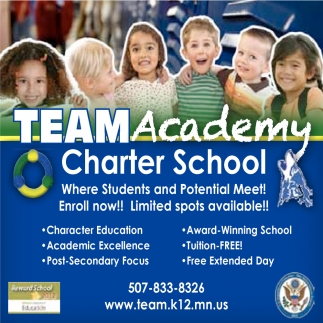 Enroll now! Limited sports available!, Team Academy Charter School