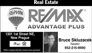 Bruce Skluzacek, RE/MAX Advantage Plus: Bruce & Lisa Skluzacek, New Prague, MN