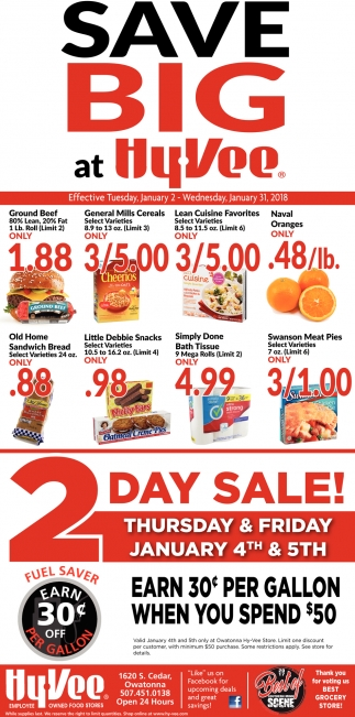 Save Big at Hy-Vee