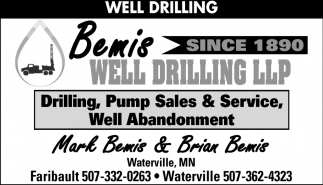 Well Drilling, Bemis Well Drilling & Water Conditioning, Faribault, MN