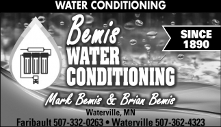 Water Conditioning, Bemis Well Drilling & Water Conditioning, Faribault, MN