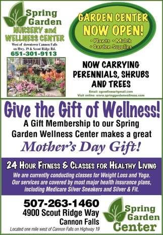 Ads For Spring Garden Center Nursery And Wellness In Cannon Falls Mn