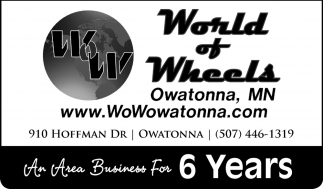 An Area Business For 6 Years, World of Wheels, Owatonna, MN