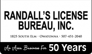 An Area Business For 50 Years