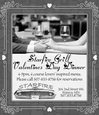 Starfire Grill Valentines Day Dinner Starfire Restaurant Waseca Mn