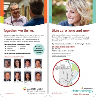 Mankato Clinic Daniels Health Center, Mankato Clinic Dermatology
