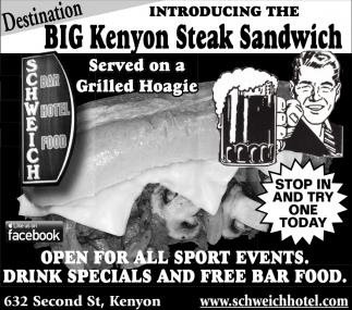 Big Kenyon Steak Sandwich