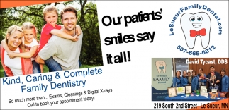 Kind, Caring & Complete Family Dentistry, Le Sueur Family Dental, Le Sueur, MN
