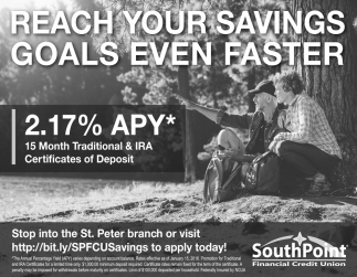 Reach Your Savings Goals Even Faster Southpoint Financial Credit