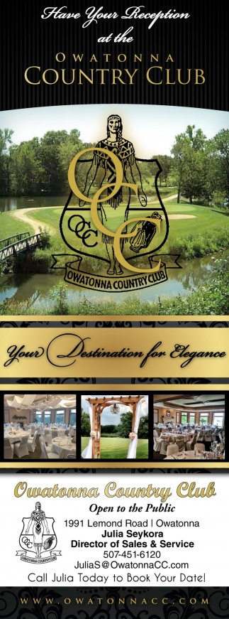 Your Destination for Elegance, Owatonna Country Club