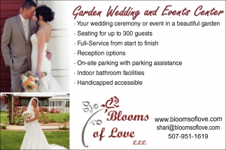 Bridal Garden Wedding and Events Center, Blooms of Love