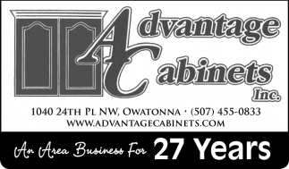 An Area Business For 27 Years, Advantage Cabinets. Inc., Owatonna, MN