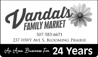 An Area Business For 24 Years, Vandal's Family Market, Blooming Prairie, MN