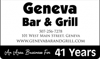 An Area Business For 41 Years, Geneva Bar & Grill, Geneva, MN