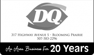 An Area Business For 20 Years, Dairy Queen of Blooming Prairie, Blooming Prairie, MN