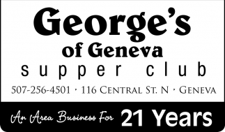 An Area Business For 21 Years, George's of Geneva, Geneva, MN