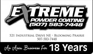 An Area Business For 18 Years, Extreme Powder Coating
