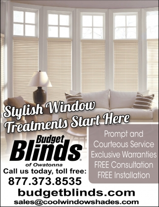 Free Consultation and Installation!, Budget Blinds, Albert Lea, MN