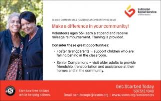 Senior Companion & Forest Grandparent Programs