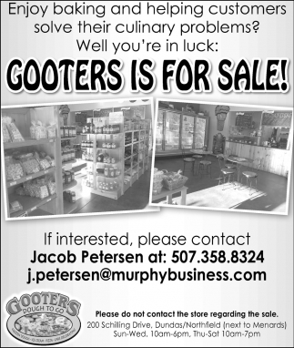 Gooters is for sale!
