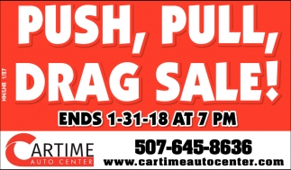 Push, Pull, Drag Sale!