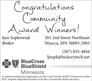 Congratulations Community Award Winners!