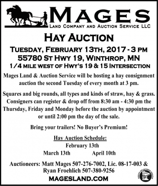 Hay Auction