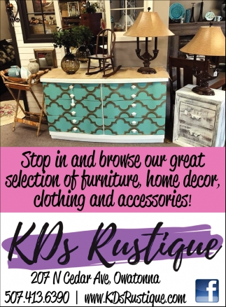 Furniture, Decor, Clothing And Accessories, The Rustique Consignment Shop,  Owatonna, MN