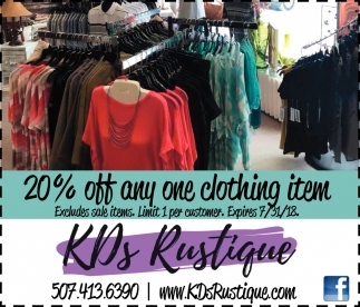 20% off any one clothing item