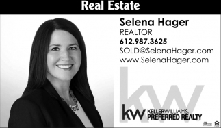 Selena Hager CEO, Realtor, Keller Williams: Selena Hager, Burnsville, MN